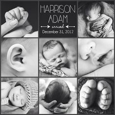Cute Birth Announcement Ideas!