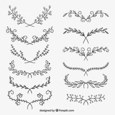 Flower ornaments free vector ornaments # give DIY tattoo – diy best tattoo diy best tattoo – diy best tattoo ideas – floral tattoo sleeve Diy Tattoo, Arm Tattoo Ideas, Wrist Tattoo, Line Tattoo Arm, Tattoo Arrow, Sternum Tattoo, Tatuagem Diy, Tattoo Style, Wreath Drawing