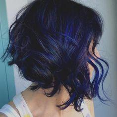 Einzigartige Dunkelblau Frisuren Blau Schwarz Frisur Ideen Blaue … – Damen Haare
