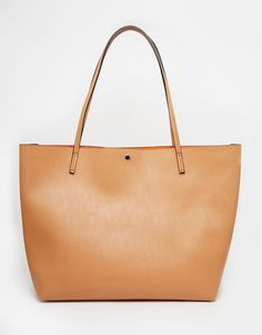 Image 1 of ASOS Bonded Shopper Bag