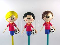 Primero,unos futbolistas de la selección: