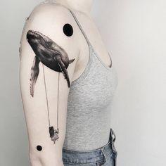 Here are the most beautiful tattoo ideas - See the most beautiful tattoos of this week - Rare Beauties Whale Tattoos, Baby Tattoos, Cool Tattoos, Tatoos, Ant Tattoo, Marine Tattoo, Vegan Tattoo, Rare Animals, Animals Sea