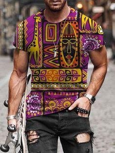 Printed Tank Tops, Printed Shorts, Ripped Denim, Mens Tees, Vintage Men, Men Casual, Mens Fashion, Sleeves, T Shirt