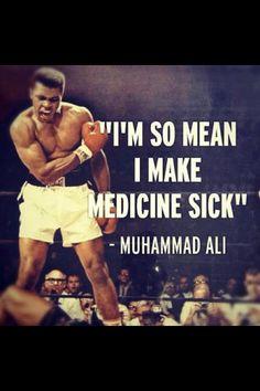 "Mohammad Ali ""I'm so mean"""