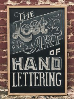Lucky for us, the beautiful art of hand lettering is coming back!