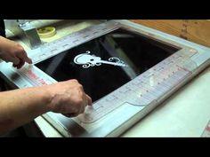 screen print T shirt vinyl fast easy setup and clean Cricut no emulsion - YouTube