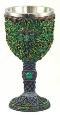 Chalice Greenman Goblet Celtic Altar Wicca Pagan Gods Witchcraft Druid Spells