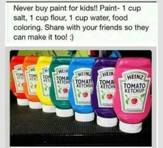 DIY kid's paint.