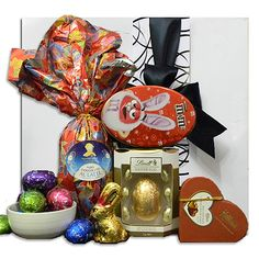 Happy easter gift basket gift delivery in melbourne sydney easter treats gift basket gift delivery in melbourne sydney australia 9800 negle Images