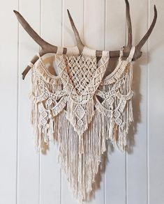 Kristin // Large Macrame Wall Hanging with Tree Branch and