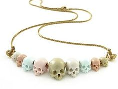 pastel skull necklace <3