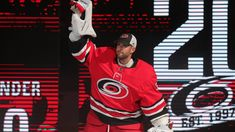 """Cam Ward is hanging up his skates and setting down his goalie stick marked with his signature """"Have Fun,"""" and he's doing so back where it all began. Justin Williams, Goalie Stick, North Carolina Coast, Carolina Hurricanes, Special Olympics, Welcome Home, Previous Year, Nhl, Over The Years"""