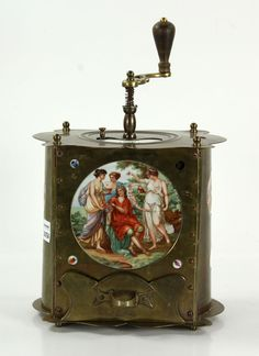 7016 - Antique Brass Coffee Grinder Design and Decorative Auction | Official Kaminski Auctions