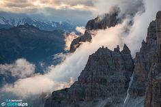 Brenta dolomites, Adamello Brenta Natural Geopark (Trentino, Ital)
