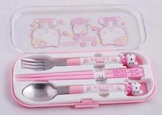 jewels hello kitty silver wear pink kawaii pastel food girly wishlist kitchen… and like OMG! get some yourself some pawtastic adorable cat appare Hello Kitty Haus, Hello Kitty Kitchen, Hello Kitty Items, Hello Kitty Things, Hello Kitty Outfit, Hallo Kitty, Ddlg Little, Kawaii Room, Kawaii Accessories