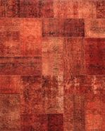 I just love these Recoloured Patchwork Carpets by De Munk Carpets