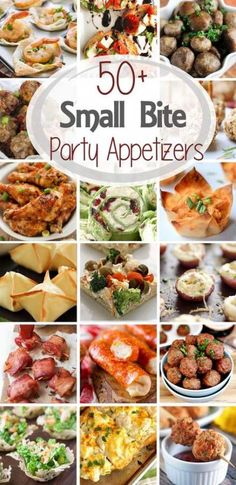 over 50 Small Bite Party Appetizers! Small Bite Party Appetizers ~ Get ready for holiday parties and New Year's Eve! This round up has over 50 recipes from the best blo Aperitivos Finger Food, Christmas Finger Foods, Fingers Food, Finger Food Appetizers, Best Party Appetizers, Finger Foods For Party, Christmas Party Appetizers, Birthday Appetizers, Christmas Dinners
