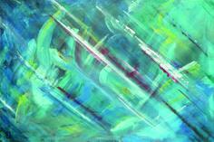 Fond marin. Représentation des méandres des fonds marins. Peinture acrylique sur toile, réalisée aux pinceaux, palettes et matériaux divers. Format : largeur 92,0 cm x hauteur 61,5 cm x épaisseur 2,5 cm.
