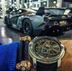 Beautiful Audemars Piguet Millenary and Lamborghini Veneno.