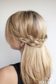 Hair Romance - how to wear your hair to a wedding - half crown braid hairstyle tutorial