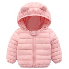 62ef4eb42a5 Winbetter Baby Girl Boy Light Down Cartoon Jacket Windproof Zipper Hooded  Coat Winter Warm SnowsuitInfants Toddlers