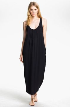 L'AGENCE Cross Back Maxi Dress available at #Nordstrom