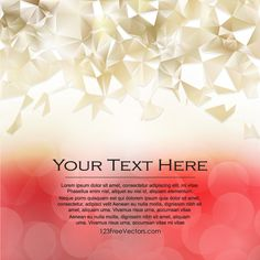 Red Gold Triangle Polygonal Background Design