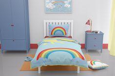 Rainbow toddler duvet cover Cotton Bedding Sets, Duvet Sets, Duvet Cover Sets, Childrens Duvet Covers, Girls Duvet Covers, Toddler Duvet Set, Toddler Bed, Toddler Girls, Baby Girls