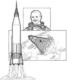 coloring page: John Glenn