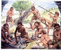 1) de levenswijze van jager-verzamelaars  Het grootste deel van de geschiedenis leefden mensen als nomaden in de samenleving van jager- verzamelaars. Ze kwamen aan hun voedsel door te jagen en voedsel te verzamelen in de natuur. Omdat mensen nog niet konden schrijven is onze kennis over de prehistorie gebaseerd op ongeschreven bronnen.
