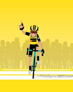 Etappe 7 TDF'19 Dylan Groenewegen Bicycle Sketch, Bicycle Art, Cycling Art, Cycling Bikes, Bike Illustration, Cycle Ride, Football, Cartoon, Instagram