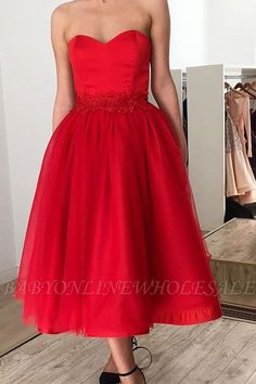 Babyonlinewholesale offers Ruby Sweetheart Short Ankle-length Homecoming Dress with Belt at a cheap price from Satin to A-line Tea-length them. Stunning yet affordable Prom Dresses. Formal Dresses Uk, Cheap Prom Dresses Online, Party Dresses Uk, Evening Dresses Uk, Affordable Prom Dresses, Strapless Dress Formal, Dress Online, Elegant Dresses, Pretty Dresses