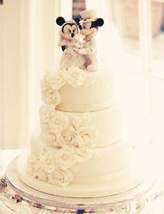 pretty Disney wedding cake