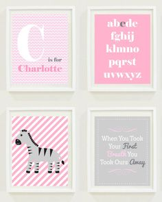 Zebra Nursery Prints | Safari Nursery | Jungle Nursery | Pink & Grey Chevron | Nursery Inspiration