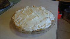 Mango custard cream pie