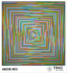 Handmade lines which makes a square that moves, full of colors and energy.  http://www.facebook.com/TinodenWeiss