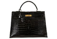 Hermès Kelly 35cm Black Crocodile Our Lust List | One Kings Lane
