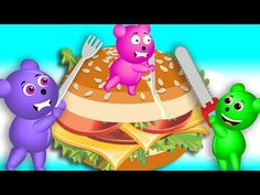 Mega Gummy Bear Eating Giant Ice Cream Finger Family Rhyme For Kids | Gummy - YouTube