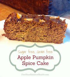 Apple Pumpkin Spice Cake recipe (Grain-free, gluten-free, processed sugar free) | Find Your Balance with Michelle Pfennighaus