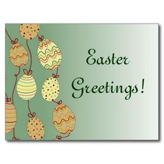 Hanging Easter Eggs Post Card