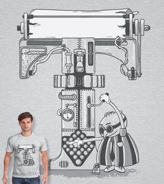Votem! Estampa 'Type Machine' no Camiseteria.com. Autoria de Igor Tiogo Soares http://cami.st/d/53008