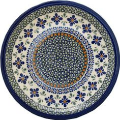 "9.5"" Salad Plate - Pattern DU60 by Euroquest Imports Polish Pottery. $27.00. Dimensions: Diameter: 9.5"". Origin: Boleslawiec, Poland. Use&Care: Polish Pottery is oven- dishwasher- stove- and microwave oven safe, lead and cadmium free, resistant to chip.. Each piece of Polish Stoneware is handmade and hand-painted.. 1001-DU60 Features: -Plate.-Stoneware material.-Available in DU60 design.-Made in Poland. Dimensions: -Overall dimensions: 9 1/2''. Collection: -Traditional co..."