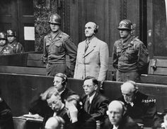 Defendant Oswald Pohl, a former SS Obergruppenführer and general in the Waffen-SS, is sentenced to death by hanging by the Military Tribunal II at the Pohl/WVHA trial.