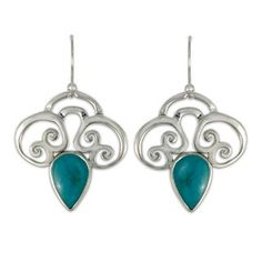 Rose Silver and Turquoise Earrings--another possible shape for the bee
