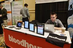 Bloodhound's booth!