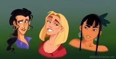 Genderbent Road to El Dorado by s0alaina on @DeviantArt Dreamworks Movies, Disney And Dreamworks, Disney Pixar, Disney Characters, Dreamworks Skg, Disney Gender Swap, Disney Gender Bender, Disney Au, Disney Love