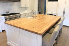 Maple countertop kitchen island top table top solid wood butcher block Offered in several colors Butcher Block Table Tops, Maple Butcher Block, Butcher Block Island, Countertop Materials, Wood Countertops, Kitchen Tops, Kitchen Island, Kitchen Ideas, Kitchen Inspiration