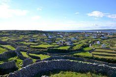 The Aran islands in Ireland.
