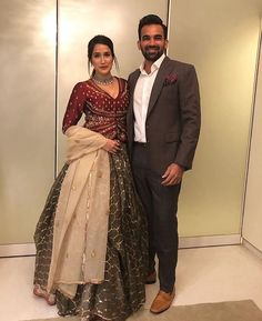 sagarika ghatge and zaheer khan Best dressed celebrities at the Virushka wedding reception Indian Reception Outfit, Indian Wedding Outfits, Bridal Outfits, Indian Outfits, Indian Clothes, Party Outfits, Wedding Dresses, Indian Gowns Dresses, Pakistani Dresses