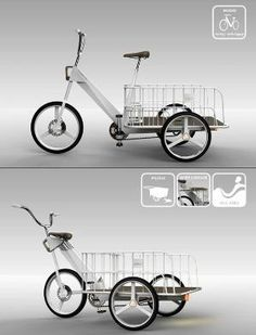 Stumbled across this great article on 15 Amazing Bicycles for the Future from the Seoul Cycle Design Competition. As with concept car designs there are some models here that you . Yanko Design, Marketing Facebook, Bmx, Seoul, Velo Cargo, Push Bikes, Trailer, Design Competitions, Bicycle Design